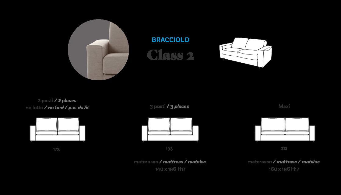 Misure: Bracciolo Class 2