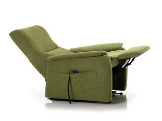 Poltrona Relax modello Berny, schienale e poggiapiedi aperti