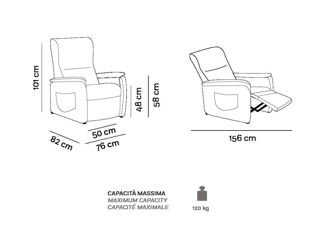 Berny - Poltrona Relax - Scheda Tecnica