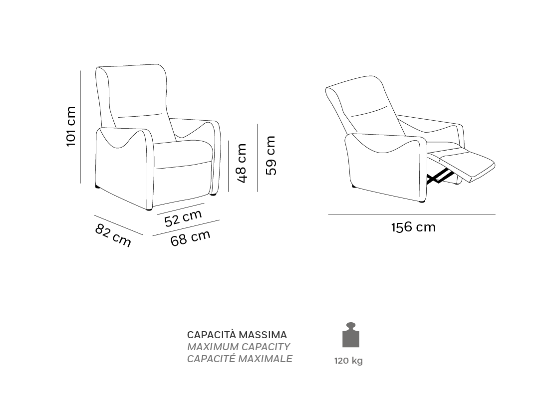 City - Poltrona Relax - Scheda Tecnica