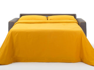 Eclisse sofa bed, open bed (front)