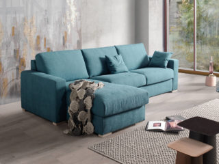 Fiore sofa bed with chaise longue
