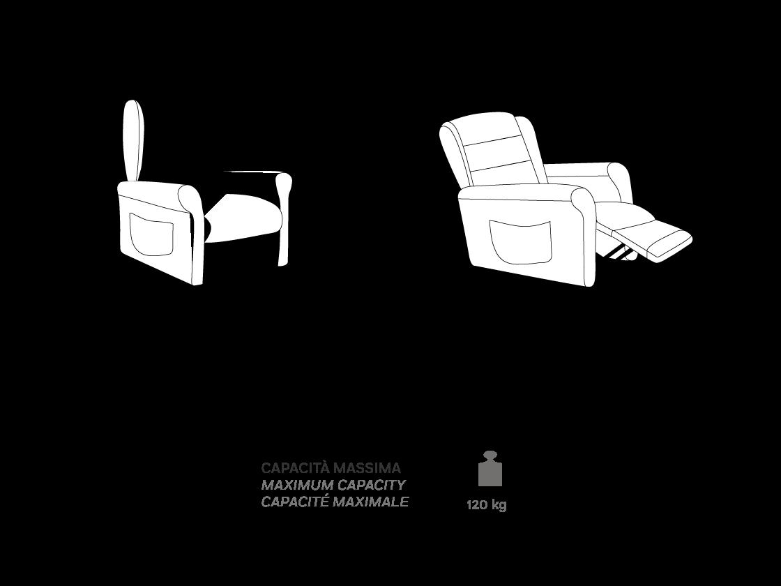 Ginevra - Poltrona Relax - Scheda Tecnica