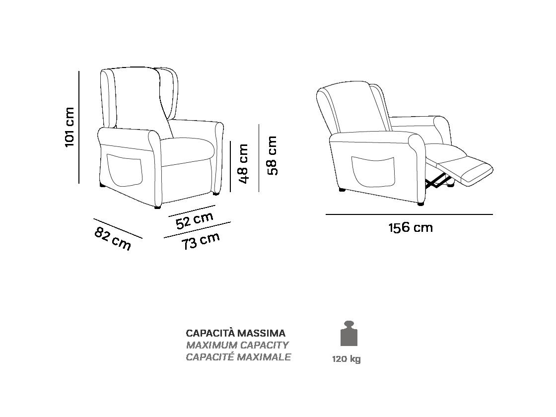 Nina - Poltrona Relax - Scheda Tecnica