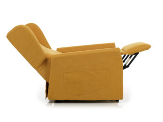 Nina Relax armchair, backrest and footrest open