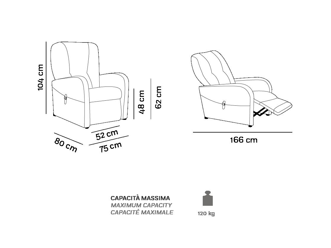 Raffa - Poltrona Relax - Scheda Tecnica
