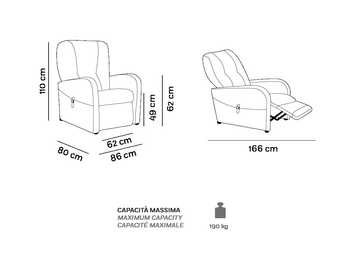 Raffa Large - Poltrona Relax - Scheda Tecnica