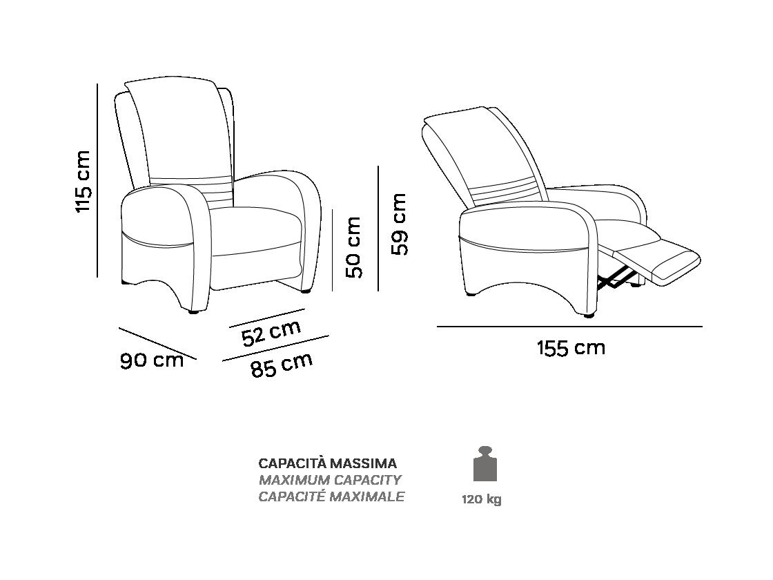 Romy - Poltrona Relax - Scheda Tecnica