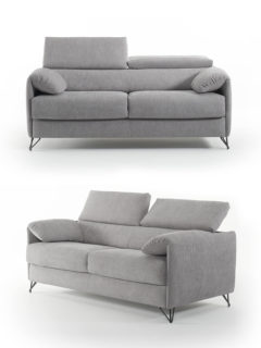 Victor sofa bed, reclining headrests