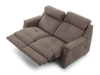 Zoe Relax sofa, backrest and footrest open