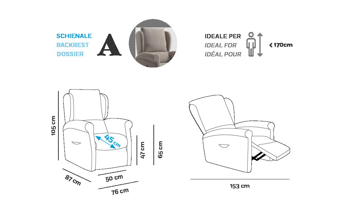 Multilpla Poltrona Relax - Scheda Tecnica - Bracciolo A