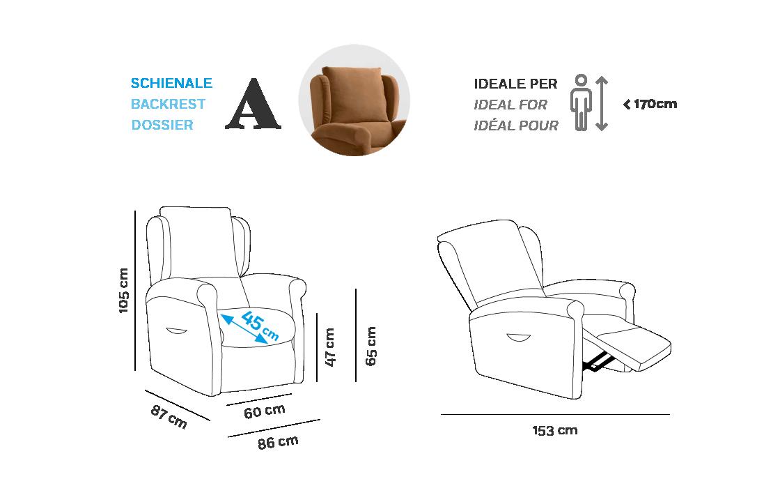 Multilpla XL Poltrona Relax - Scheda Tecnica - Schienale A