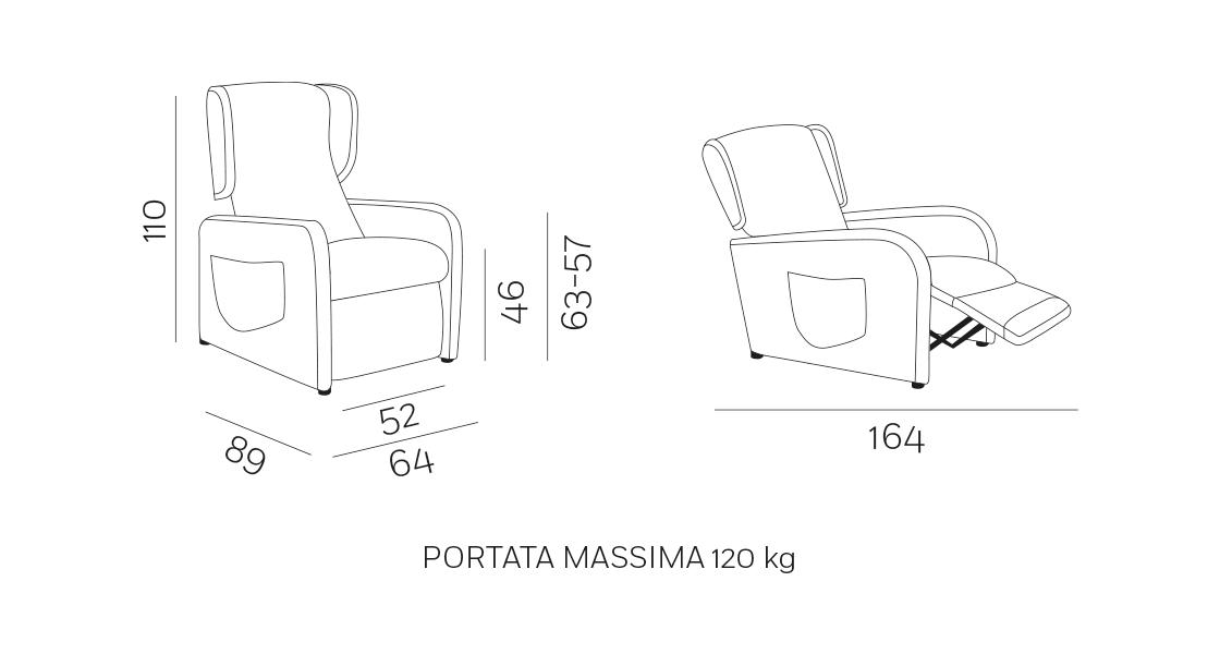 Orietta Poltrona Relax - Scheda Tecnica